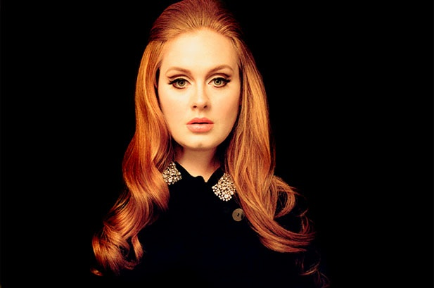 Adele with makeup