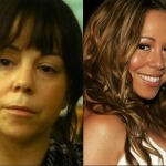 Mariah Carey without makeup, before and after