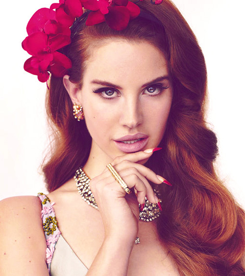 lana del rey with makeup