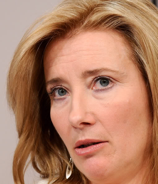 Emma Thompson without makeup