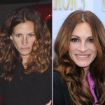 Julia Roberts without makeup before after