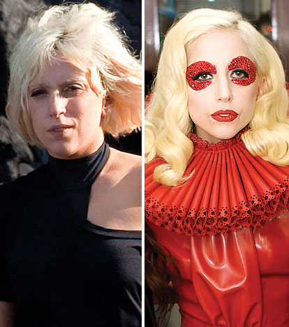 Lady Gaga without makeup before and after