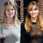 Jennifer Lawrence without makeup before and after