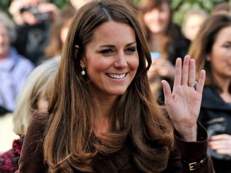 Kate Middleton with makeup