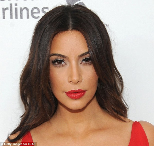 Kim Kardashian with makeup