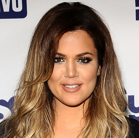 Khloe Kardashian with makeup