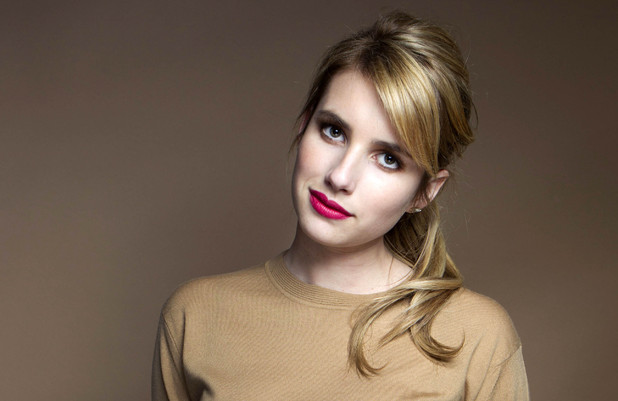 Emma Roberts with makeup