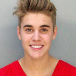 Justin Biebers mugshot without makeup