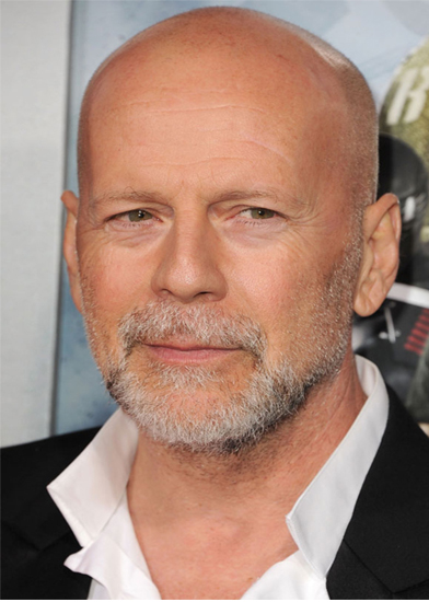 Bruce Willis with makeup