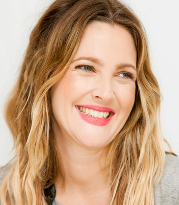 Drew Barrymore with makeup
