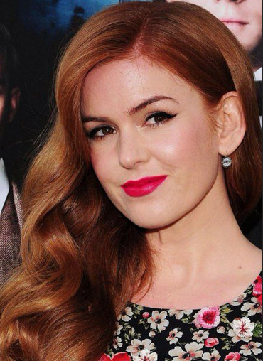 Isla Fisher with makeup