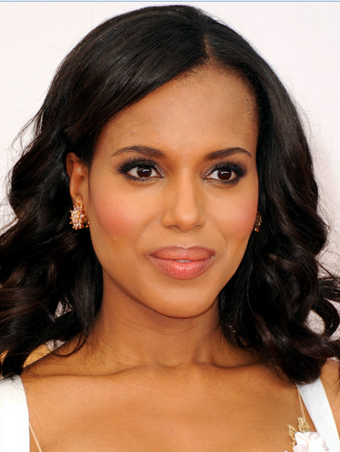 Kerry Washington with makeup
