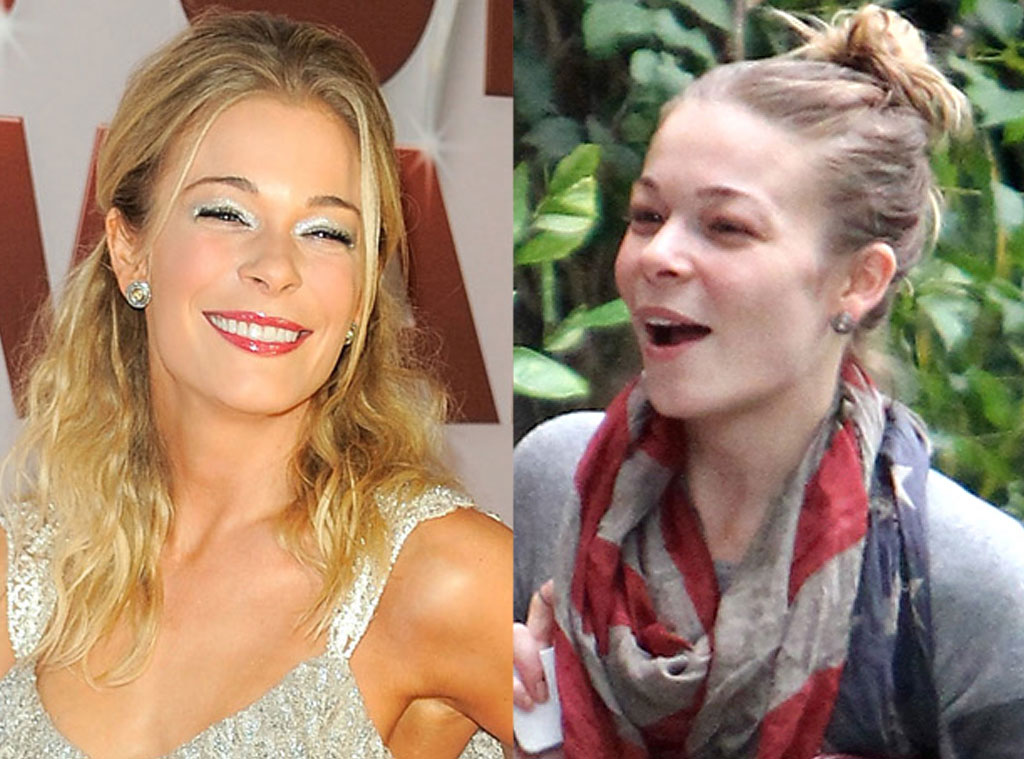 LeAnn Rimes with and without makeup