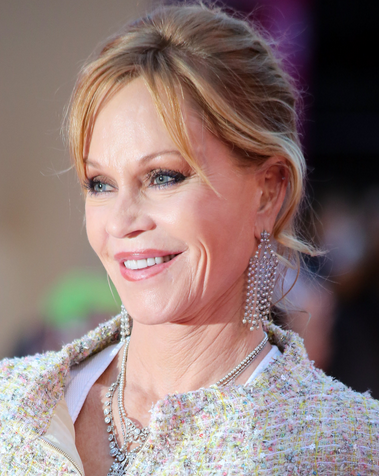 Melanie Griffith with makeup