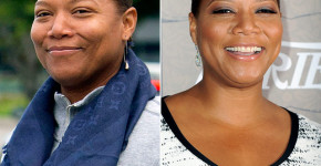 Queen Latifah without makeup before and after