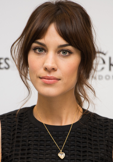 Alexa Chung with makeup
