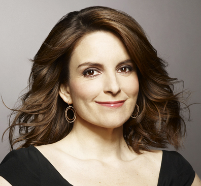 Tina Fey with makeup