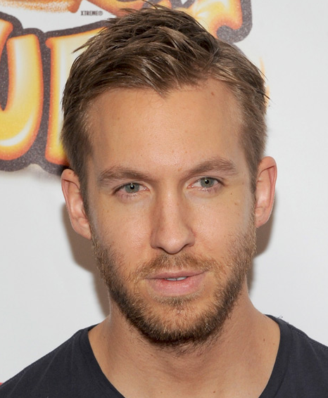 Calvin Harris with makeup