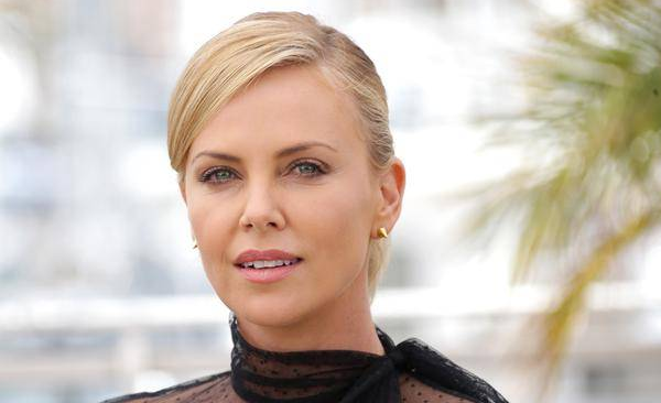 Charlize Theron with makeup