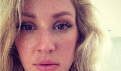 Ellie Goulding without makeup selfie