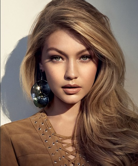 Gigi Hadid with makeup