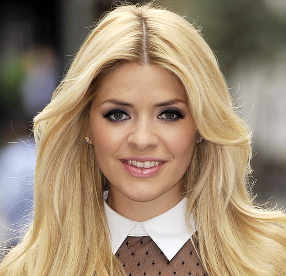 Holly Willoughby with makeup