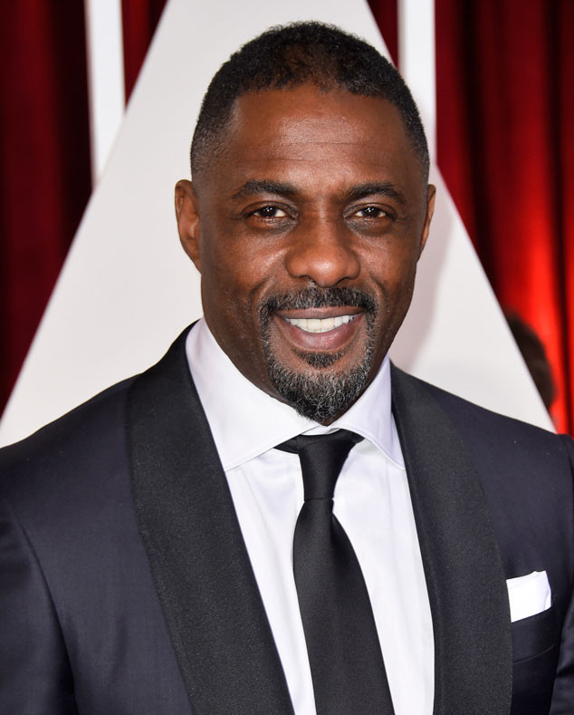 Idris Elba with makeup