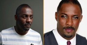 Idris Elba without and with makeup