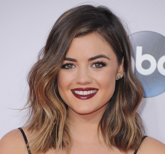 Lucy Hale with makeup