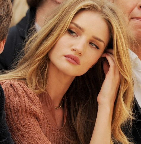 Rosie Huntington Whiteley with makeup