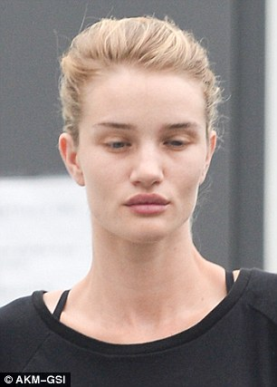 Rosie Huntington Whiteley without make up