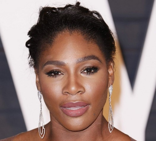 Serena Williams with makeup