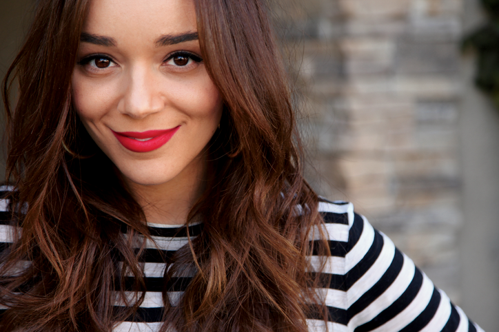 Ashley Madekwe with makeup