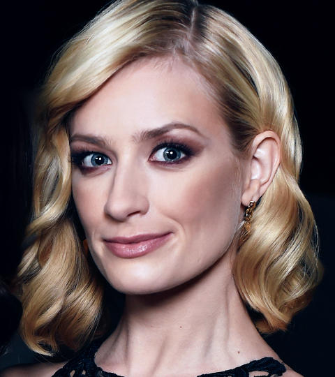 Beth Behrs with makeup