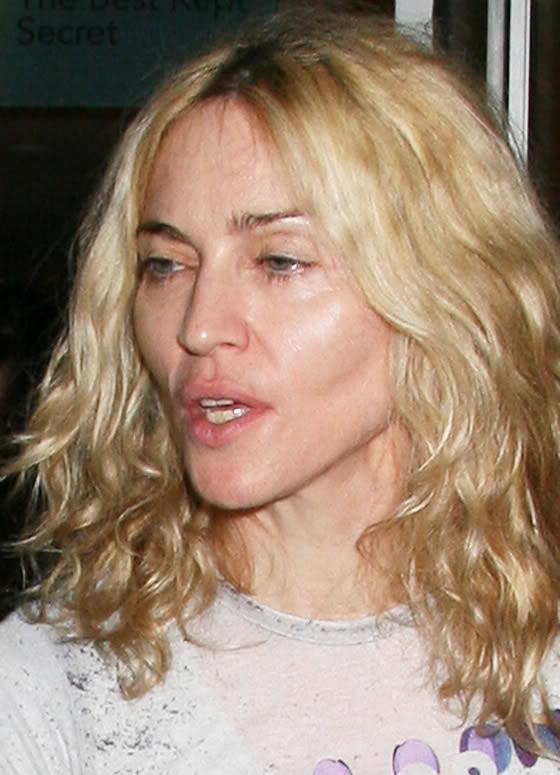Madonna no makeup