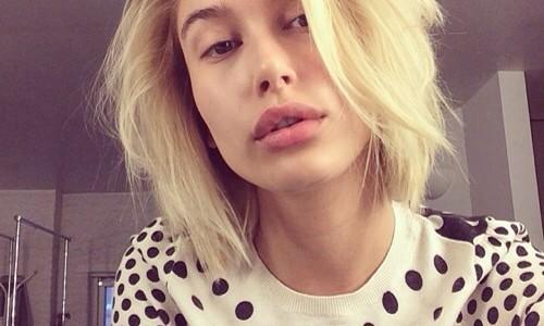 Hailey Baldwin without makeup selfie