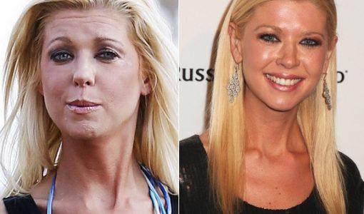 Tara Reid no makeup before and after